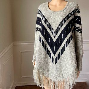 Tribal Poncho Sweater